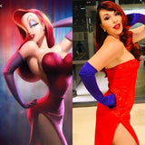 Jessica Rabbit Costume Cosplay Dress