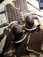 Cosplay Harry Potter Quidditch Pad Guard Set with shin guards, arm guards, knee pads, and gloves
