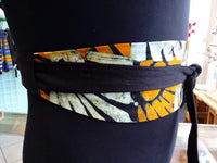 Reversible Obi Belt in African Batik