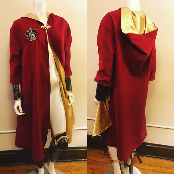 Harry Potter House Quidditch Robes in Gryffindor, Syltherin, Hufflepuff and Ravenclaw Colors