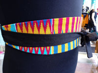 Reversible African Kente Cloth Obi Belt