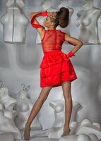Couture Red Cocktail Dress