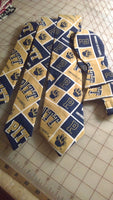 University of Pittsburgh Neckties in bow tie, skinny tie, and standard tie styles, kids or adult sizes