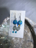 Turquoise Drop Earrings with Stainless Steel Ear wires