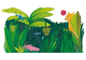 Jungle Print artwork for childs wall