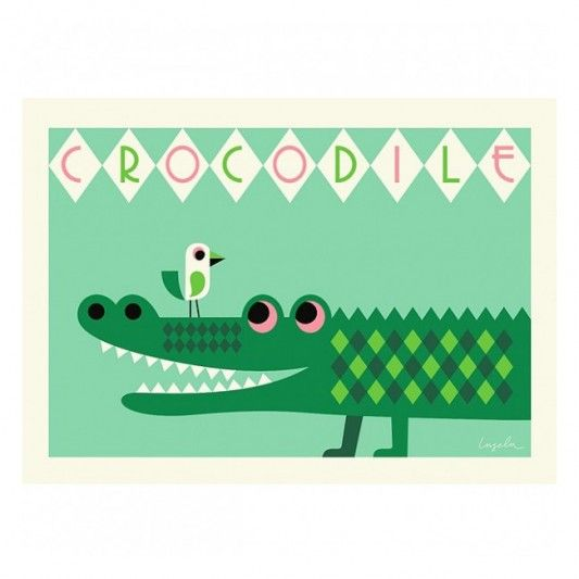 OMM Design Crocodile Poster
