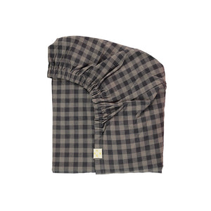 Camomile London Gingham Check Single Fitted Sheet