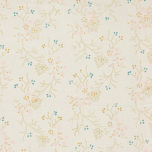 Camomile London Minako Floral Golden/Stone Duvet Cover LAST ONE