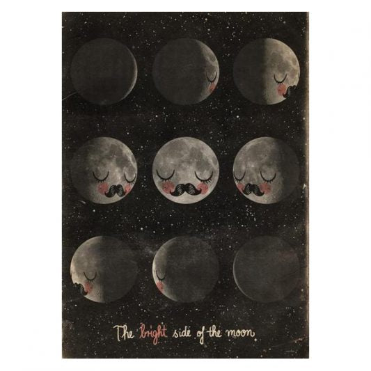 OMM Design Moon Faces Poster