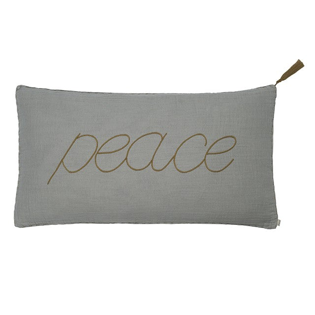 Numero 74 'Peace' Stone Grey Cushion - Alfie Wild