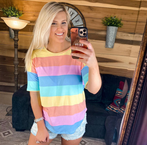 TASTE THE RAINBOW TOP