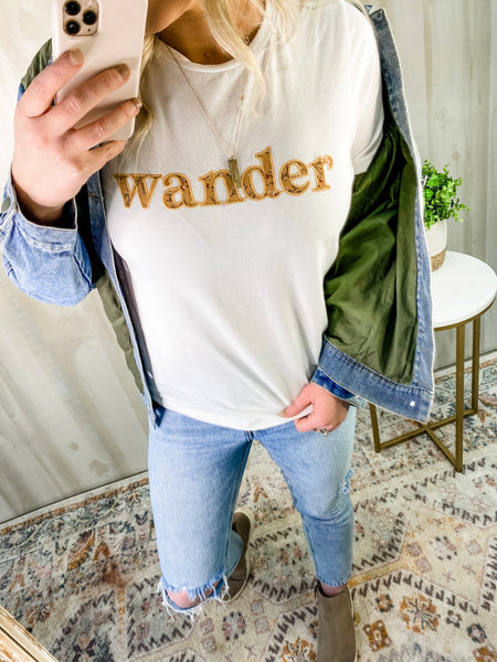 WANDER EMBROIDERED TEE