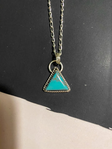 AUTHENTIC TRIANGLE TURQUOISE NECKLACE