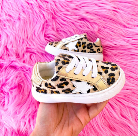TODDLER - Leopard Star Shoe