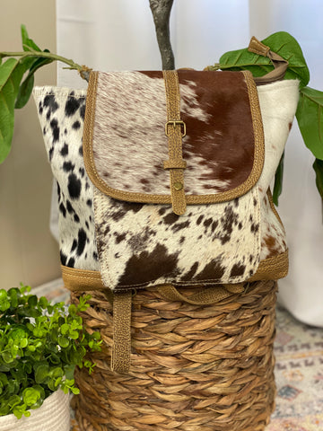 ALL COWHIDE BACKPACK