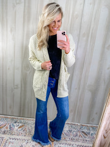 IVORY KNIT CARDIGAN - PLUS AVAIL.