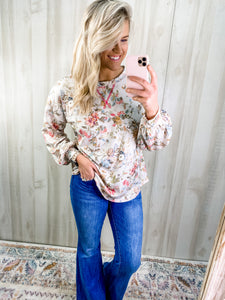 FANCY FLORAL TOP