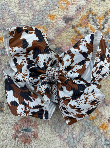 Brown/Black Cowprint Bow