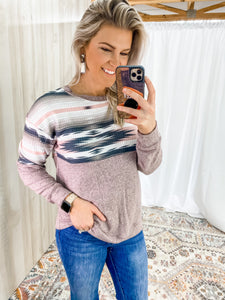 PINK SOUTHWEST SWEATER