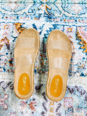 CLEAR ESPADRILLE SANDALS