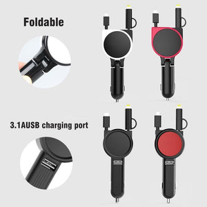 Car Charger Dual Cable