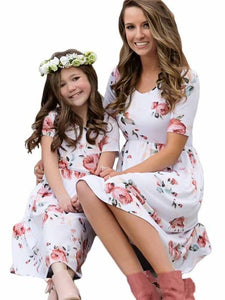 Floral Mommy And Me Matching Dresses