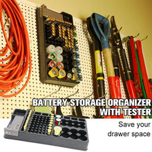 Load image into Gallery viewer, Battery Storage Organizer With Tester