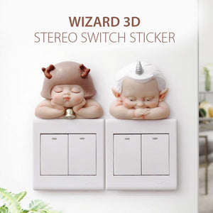3D Resin Switch Sticker