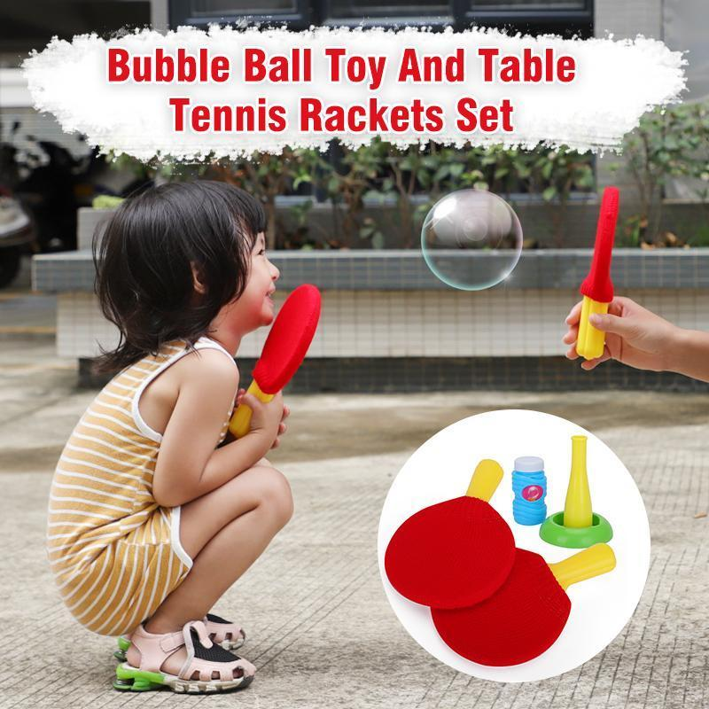 Bubble Ball Toy And Table Tennis Rackets Set