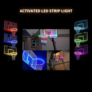 Basketball Hoop -Activated LED Strip Light-6 Flash Modes