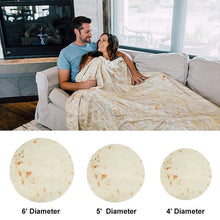Load image into Gallery viewer, Burrito Blanket - Perfectly Round Tortilla Throw