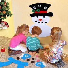 Load image into Gallery viewer, DIY Felt Christmas Snowman Set
