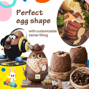 3D Chocolate Egg Mold Kit