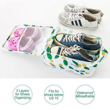 Load image into Gallery viewer, Foldable Waterproof Travel Shoe Bag - Holds 3 Pair of Shoes