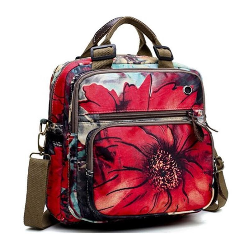 Leisure Style Flower Pattern Backpack