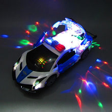 Load image into Gallery viewer, 360 Degree Rotary Wheels Musical LED Lighting Electronic Police Car