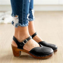 Load image into Gallery viewer, Fashion Retro Round Head With Sandals