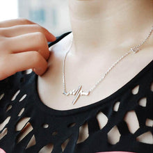 Load image into Gallery viewer, Heartbeat Love ECG Necklace