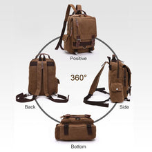 Load image into Gallery viewer, Double Buckle Pocket Zippers Backpack