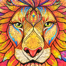 Load image into Gallery viewer, Wooden Lion Jigsaw Puzzle