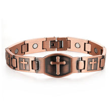 Load image into Gallery viewer, Magnetic Cross Bracelet