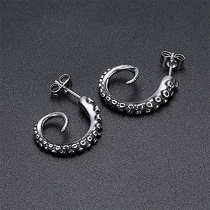Octopus Hoop Earrings