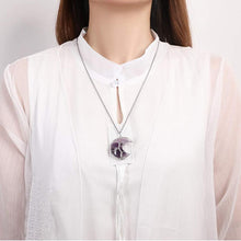 Load image into Gallery viewer, Tree of Life Crescent Moon Necklace