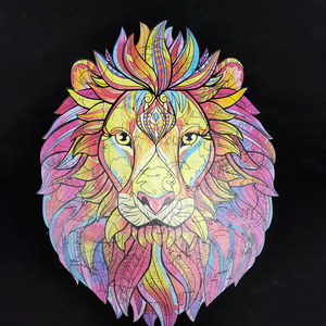 Wooden Lion Jigsaw Puzzle
