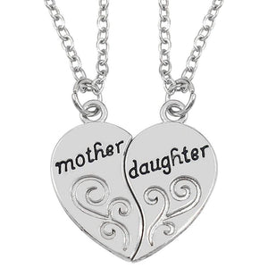 Mom & Daughter Pendant Necklace