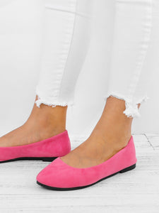 Big Size Suede Candy Color Pure Color Pointed Toe Light Slip On Flat Loafers