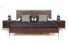 Load image into Gallery viewer, Nova Domus Conner Modern Dark Walnut & Faux Concrete Bedroom Set