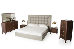 Modrest Codex Modern Grey Leatherette Bed