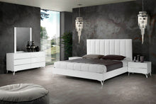 Load image into Gallery viewer, Nova Domus Angela - Italian Modern White Eco Leather Bed