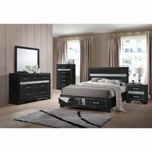 Load image into Gallery viewer, Naima Queen Bed w/Storage - 25900Q - Black